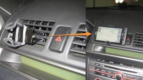 DIY smartphone vent mount