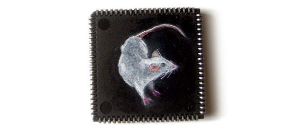 Yuri Zupancic's Microchip Paintings