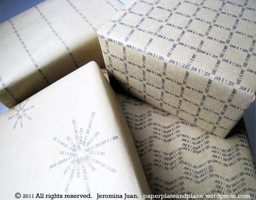 How-To: Date Stamp Wrapping Paper