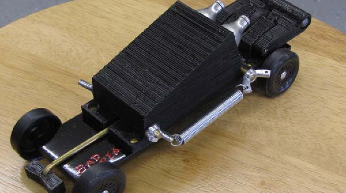 Printable C02 Powered Pinewood Derby Motor