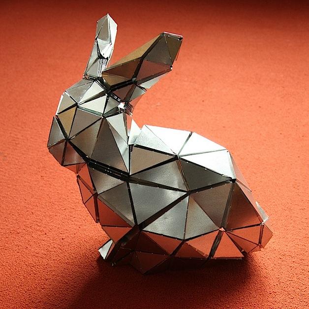 Folded Metal Bunny