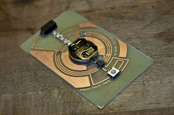 How-To: Set Up a Basement PCB Fab & Use It To Make a POV Business Card