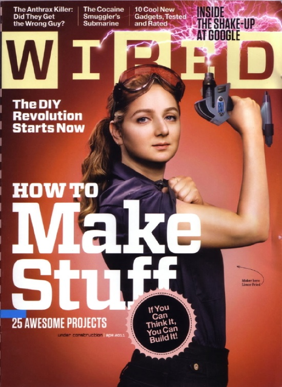 "Make: Pioneer – Limor ""Ladyada"" Fried On WIRED Cover"