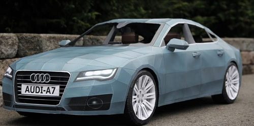 Timelapse of Giant Papercraft Audi