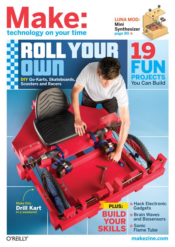 MAKE Volume 26, Karts & Wheels, On Newsstands NOW!