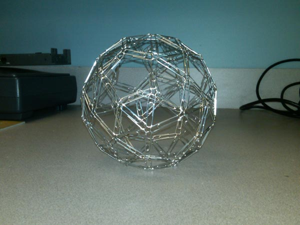 More Paperclip Snub Dodecahedron Fun