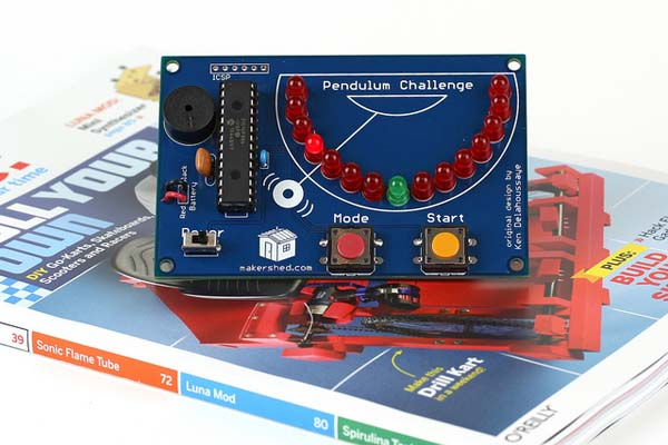 In the Maker Shed: Pendulum Challenge