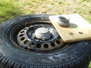 Car Tire Pottery Wheel