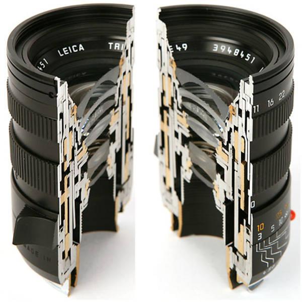 Classy Camera Lens Cross-Sections