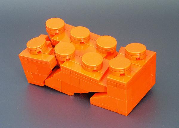 Model of a Broken Lego Brick