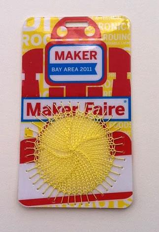 Sonya's Knitting in a Maker Faire Badge