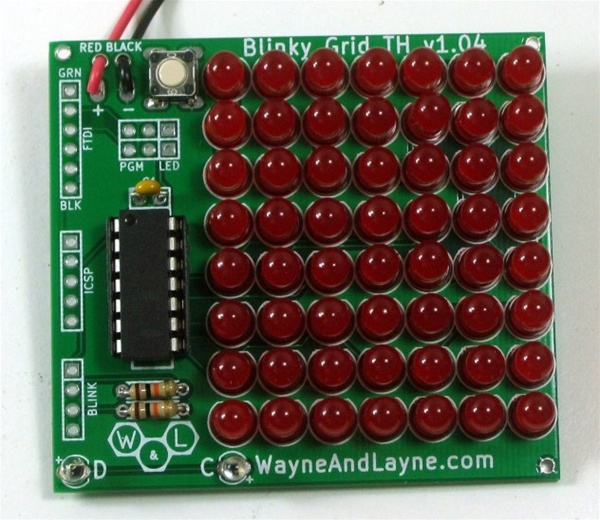 New in the Maker Shed: Red Blinky Grid