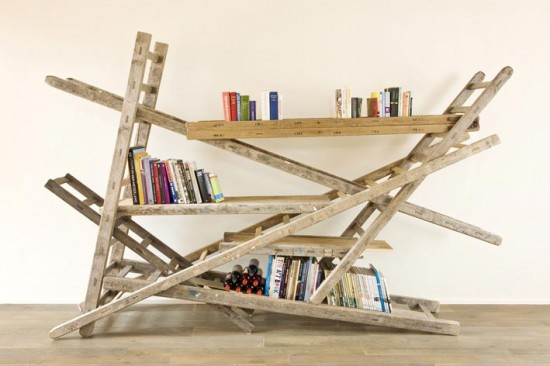 Furniture Built From Doors and Ladders