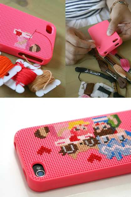 Cross-Stitch Your iPhone Case