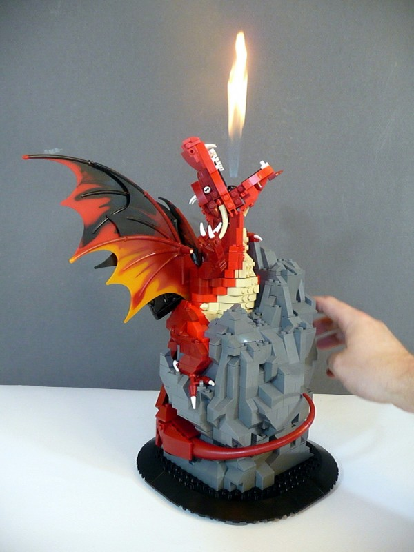 Lego Models With Real Fire, Water Effects