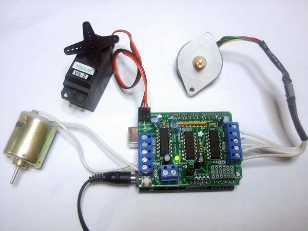 In the Maker Shed: Motor Shield Kit