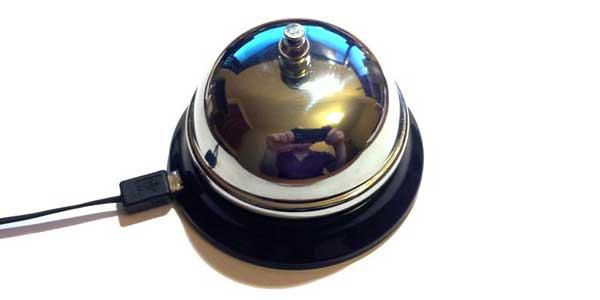Ding! You've Got a USB Desk Bell