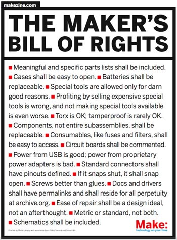 The Maker's Bill of Rights — in Latin