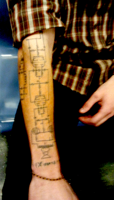 Tattoo of Schematic Brings Geek-Chic to New Level