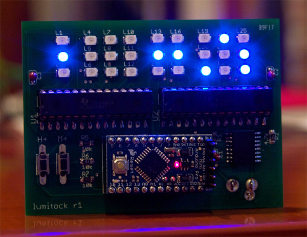 Lumitock, An Open Source LED Grid Clock