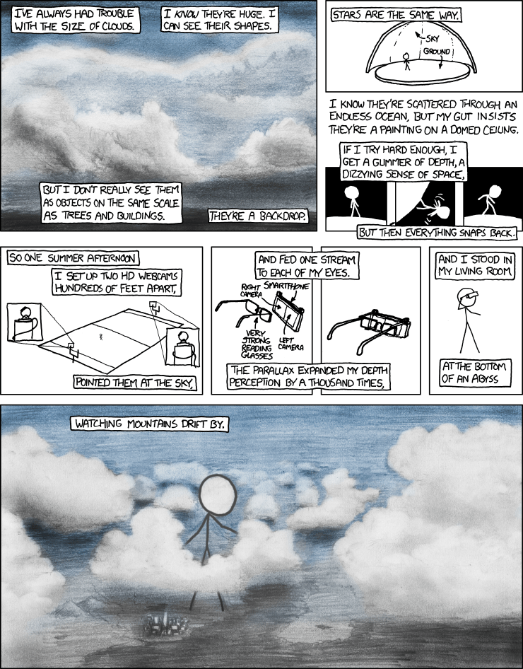 "The XKCD ""Giant Head"" Enhanced Depth Perception Project"