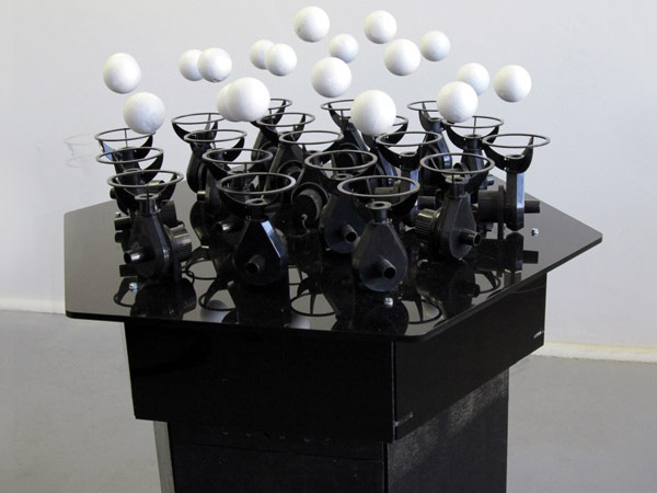 """Orchestra"" of Floating Ping Pong Balls"