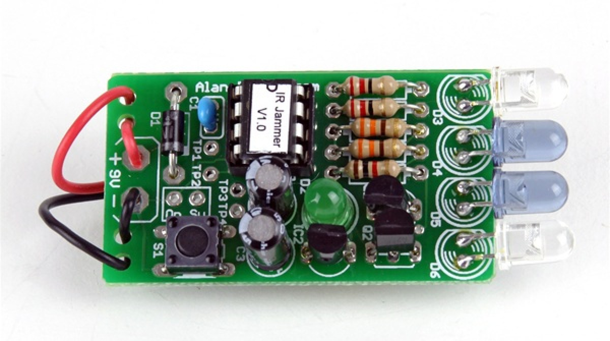In The Maker Shed Ir Jammer Kit Make Electronic Circuit Article Featured Image