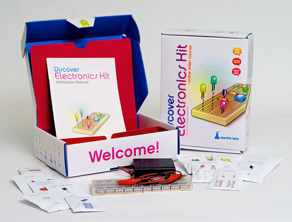 New in the Maker Shed: Discover Electronics Kit Version 2