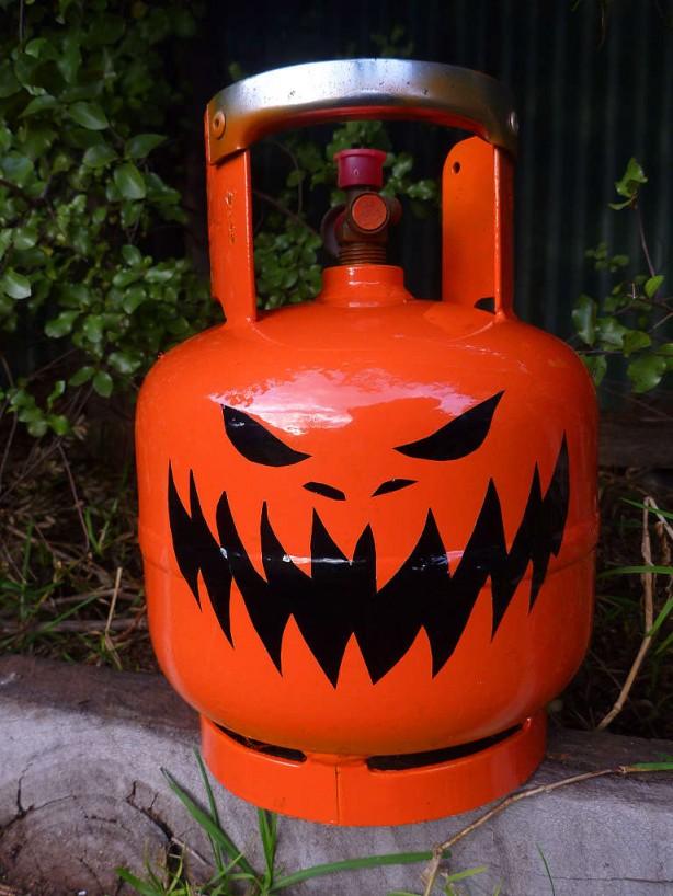 Propane Bottle Jack-o'-lantern