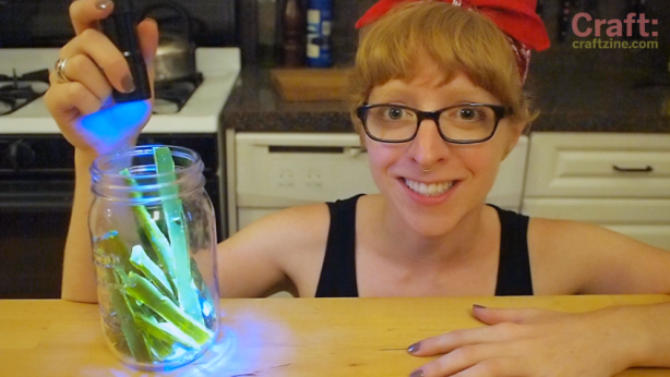 Make Glowing Kryptonite Candy