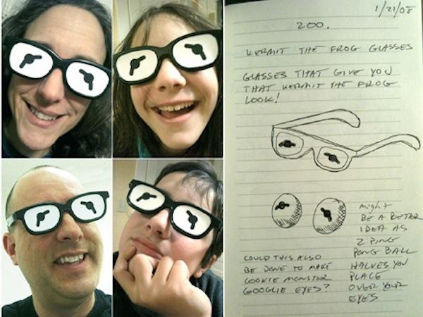Repurposed 3D Glasses Make for Great Kermit Eyes