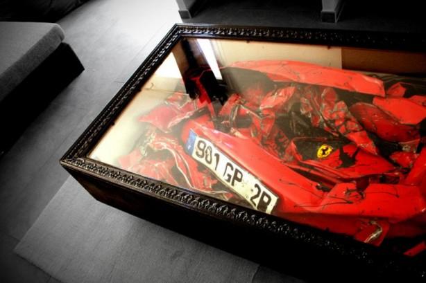 Crashed Ferrari Coffee Table