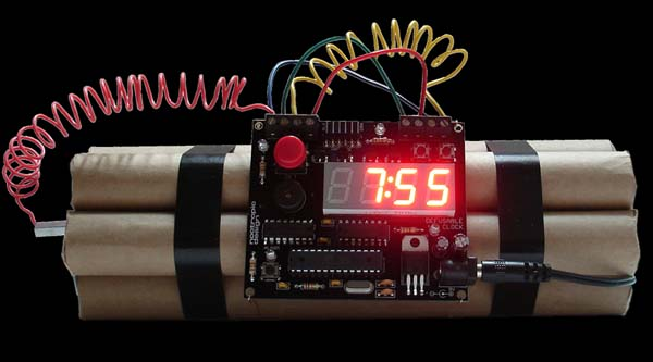New in the Maker Shed: Defusable Alarm Clock Kit
