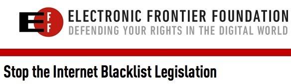 Stop Internet Blacklist Legislation
