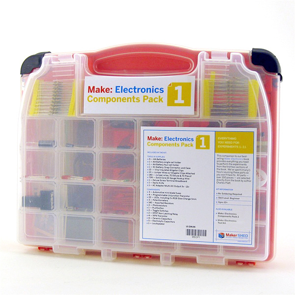 In the Maker Shed: Make: Electronics and Components Packs