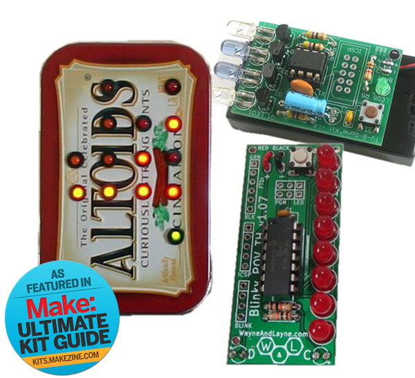 Kit-A-Day Giveaway: TV-B-Gone Kit + Red Blinky POV + Minty Time Clock