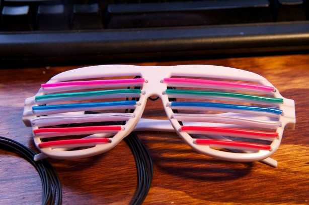 These EL Wire Glasses Would be Kanye-approved