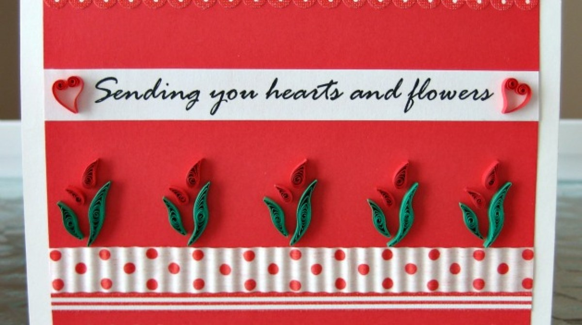Project Quilled Hearts Flowers Valentine Make