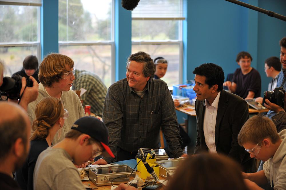 Dr. Sanjay Gupta Of CNN Visits MAKE