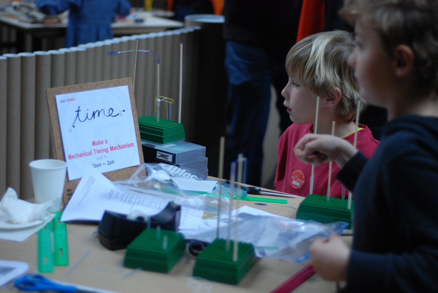 Photos from the Young Makers Program at the Exploratorium