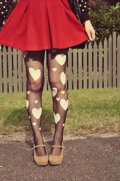 How-To: Heart Print Tights