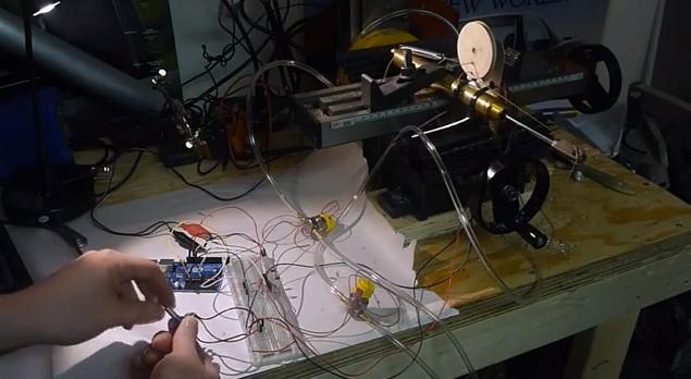 Arduino-Controlled Pneumatic Servo