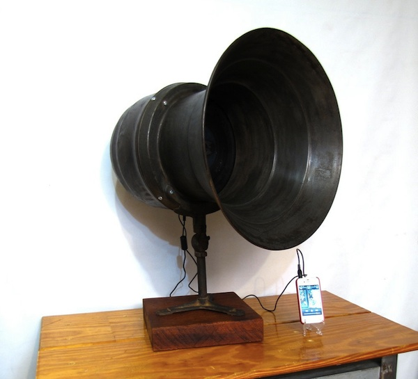 WWII Air Raid Siren Speaker Conversion