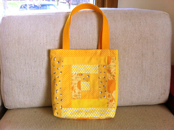 How-To: Log Cabin Block Tote Bags