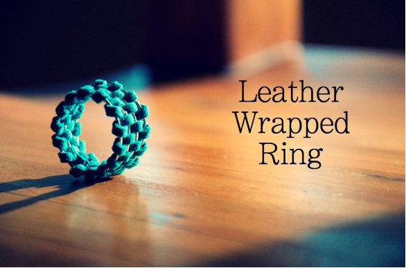 How-To: Leather-Wrapped Rings