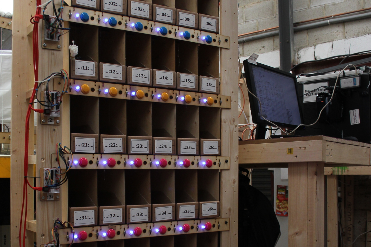 Arcade Button Shelves for Fast Inventory Tracking