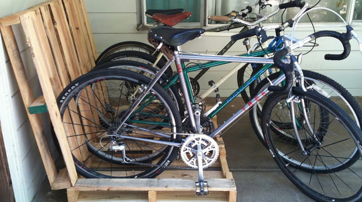 Wood Pallet Bike Rack Make