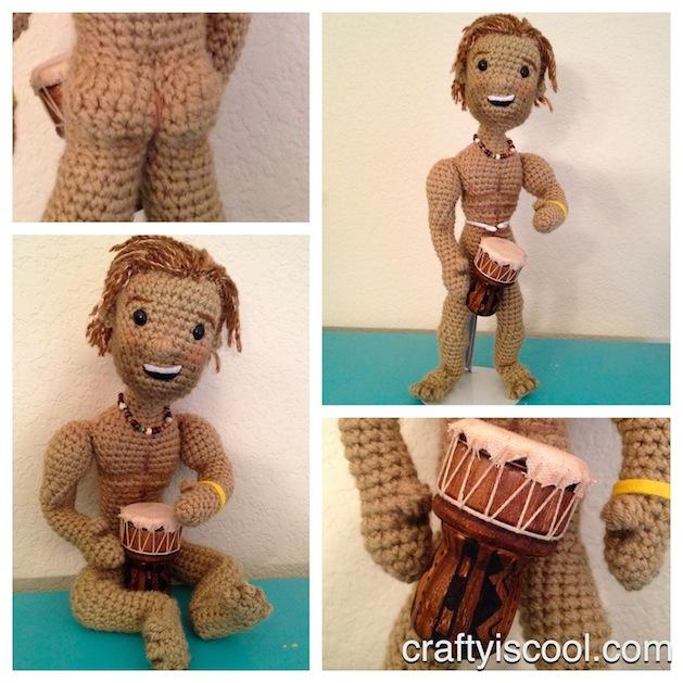 Matthew McConaughey Amigurumi Crocheted Doll