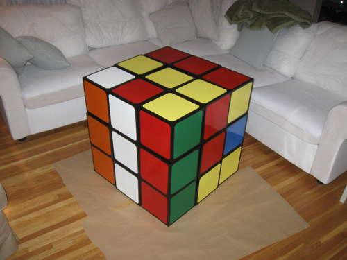 Giant Rubik's Cube Coffee Table