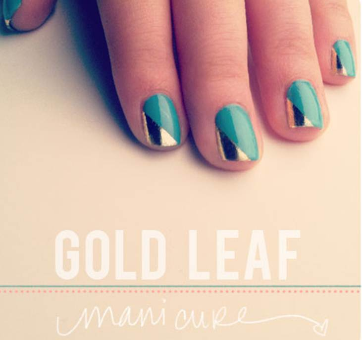 How-To: Gold Leaf Manicure